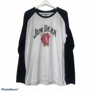 Jim Beam Whiskey Logo Graphic T-shirt XXL